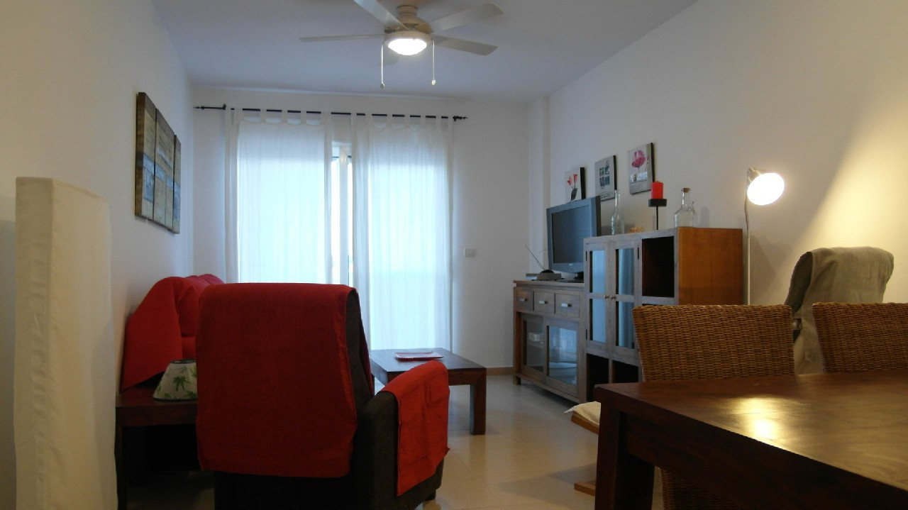 Apartamento especial con vistas al mar, A/A y parking en alquiler vacacional en Puerto de Mazarron