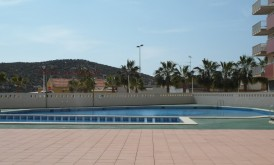 Ccosy apartment with A/C and swimming pool for rent in Puerto of Mazarron #120200-en